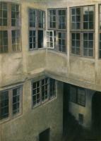 Вильгельм Хаммерсхёй. Интерьер внутреннего двора. Страндгед, 30