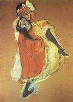 Henri de Toulouse-Lautrec. Dancer Jane Avril