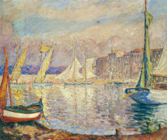 Henri Lebasque. The port in Saint-Tropez
