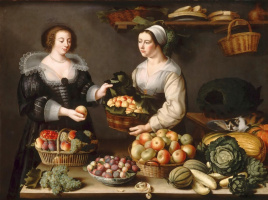 Louise Muayyon. Vendor of fruits and vegetables. 1630