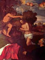 Тициан Вечеллио. Крещение Иисуса (с заказчиком Джованни Рамом)
