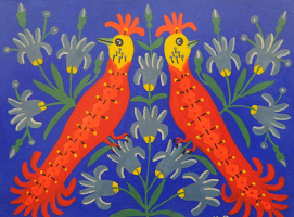Мария Авксентьевна Примаченко. Птички две сестрички близнічки спевають весняночки у квіточках