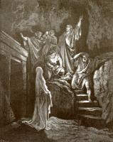 Поль Гюстав Доре. Иллюстрация к Библии: Воскрешение Лазаря