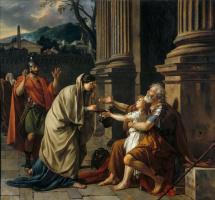 Jacques-Louis David. Belisarius begging