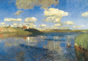 Isaac Levitan. The lake. Russia