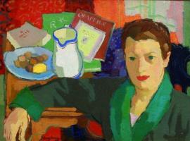 Анри Клеман-Серво. Женский портрет в интерьере