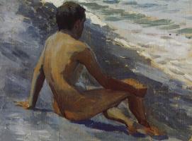 Виктор Эльпидифорович Борисов-Мусатов. Мальчик на берегу моря