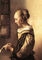 Ян Вермеер. Девушка с письмом у открытого окна. Фрагмент