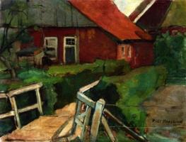 Piet Mondrian. Farm bridge