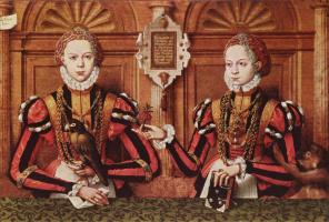 Hermann Tom Ring. Ermengard and Walburga's Rietberg. Portrait of family Rietberg, fragment