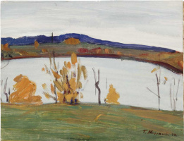 George Grigorievich Nyssa. River bank in autumn