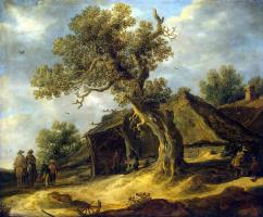 Ян ван Гойен. Пейзаж с дубом