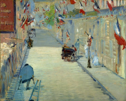 Edouard Manet. Street mosnier with flags