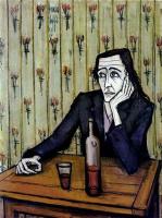 Femme au verre de vin