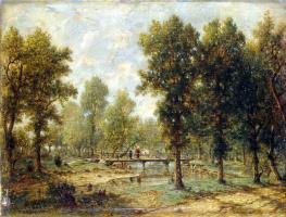 Теодор Руссо. Пейзаж с мостиком