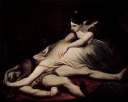 Иоганн Генрих Фюссли. Кримхильда [02] обнимает мёртвого Зигфрида