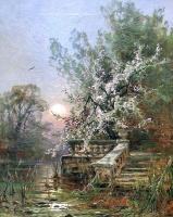 Юлий Юльевич Клевер. Вид запущенного парка в Мариенбурге (Старый парк)