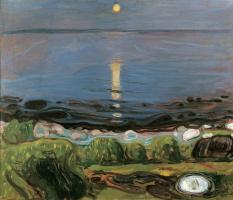 Edvard Munch. Summer night on the beach