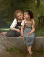 Адольф Бугро Вильям. Ловля лягушек. 1882