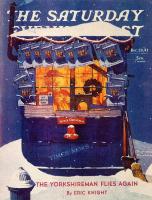 """Норман Роквелл. Газетный киоск в снегу. Обложка журнала """"The Saturday Evening Post"""" (20 декабря 1941 года)"""