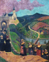 Paul Sérusier. The worship of the virgin in Chateauneuf-du-FAU
