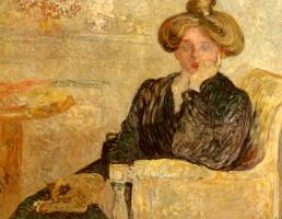 Луи Валтат. Женщина в кресле