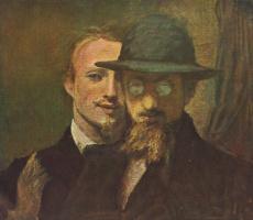 Ханс фон Маре. Автопортрет художника и портрет Ленбаха