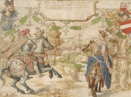Бернард ван Орлей. Граф Отто из Нассау и его жена Адельхайд ван Вианен
