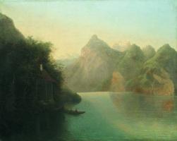Лев Феликсович Лагорио. Горный пейзаж с озером