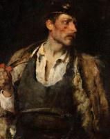 """Михай Либ Мункачи. Мужчина с трубкой. Этюд для картины """"Осужденный на смерть"""""""