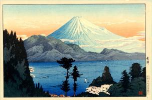 Шотеи. Пейзаж с горой и озером