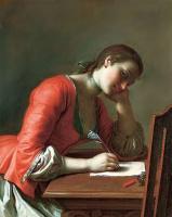 Пьетро Ротари. Девушка, пишущая любовное письмо