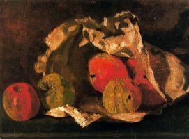 Лоуренс Стивен Лоури. Натюрморт с яблоками