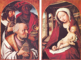 The adoration of the Magi. Diptych