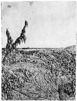 Херкюлес Питерс Сегерс. Пейзаж с дорогой вдоль плато и рекой на горизонте