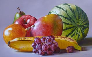 Эллери Гутьеррес. Виноград и фрукты