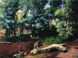 Лев Феликсович Лагорио. В чаще леса. 1871