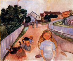 Edvard Munch. Street in Asgardstrand