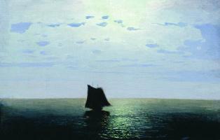 Moonlit night at sea