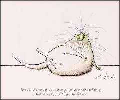 Рональд Серл. Ленивый кот