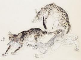 Цугухару Фудзита (Леонар Фужита). Кошки