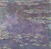 Claude Monet. Pond with water lilies
