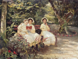 Three sisters in the park. State Tretyakov Gallery, Moscow