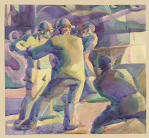 Study for the panel about the steelworkers.