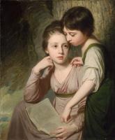 Джордж Ромни. Портрет двух девочек. Элизабет и София Камберленд