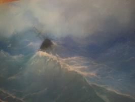 Зоя Алексеевна Маслий. Корабль в бушующем море