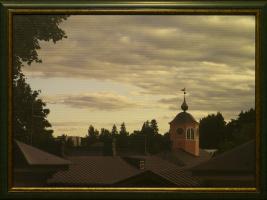 Башня смотрит крыши