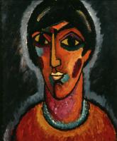 Алексей Георгиевич Явленский. Византийская женщина (Яркие губы)