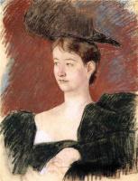 Мэри Кассат. Портрет молодой женщины в зеленом