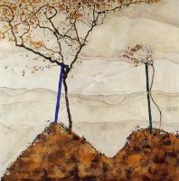 Эгон Шиле. Осеннее солнце и деревья
